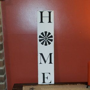 NEW Vertical Farmhouse HOME Sign with Windmill